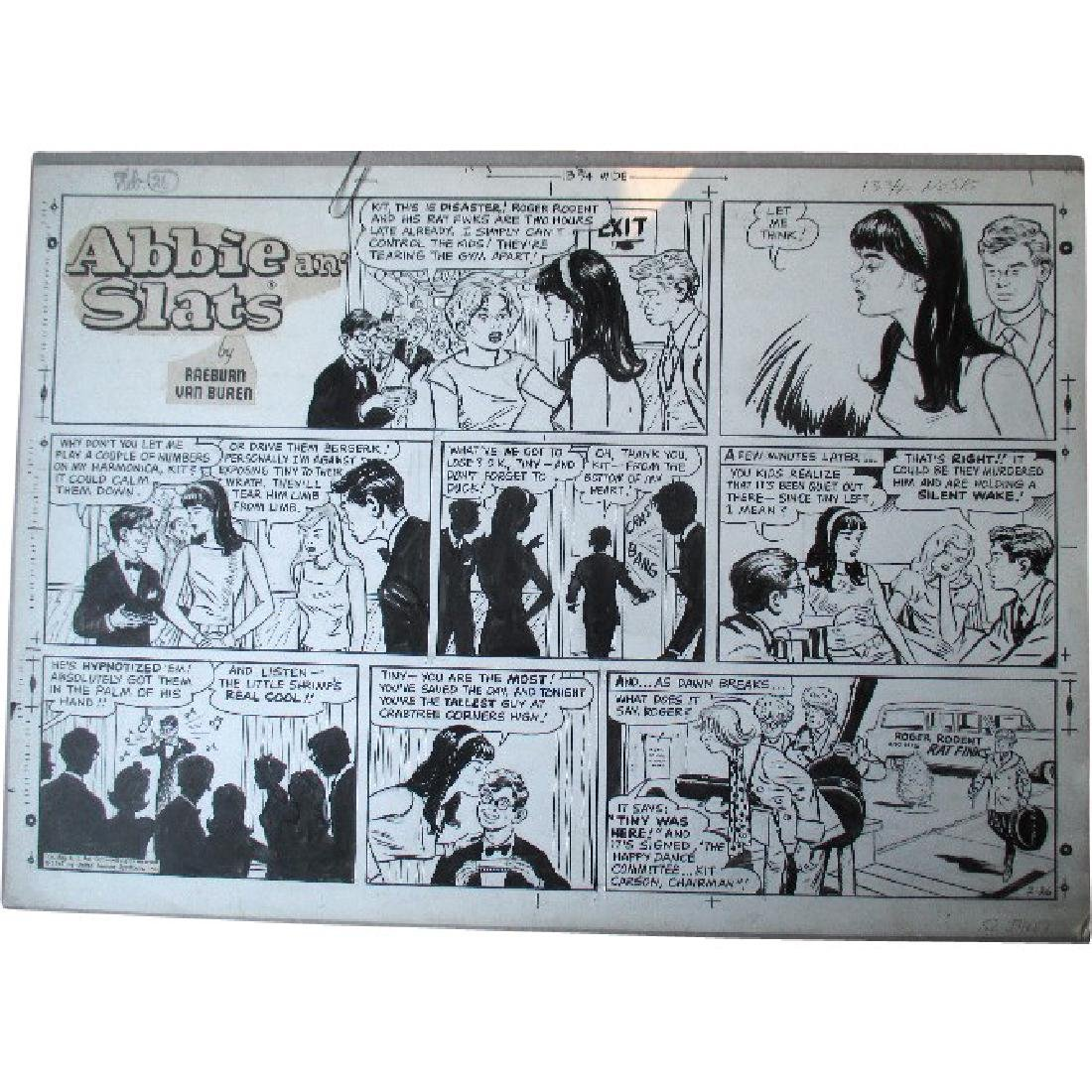 "Original ""Abbie an' Slats"" Cartoon Illustration -"