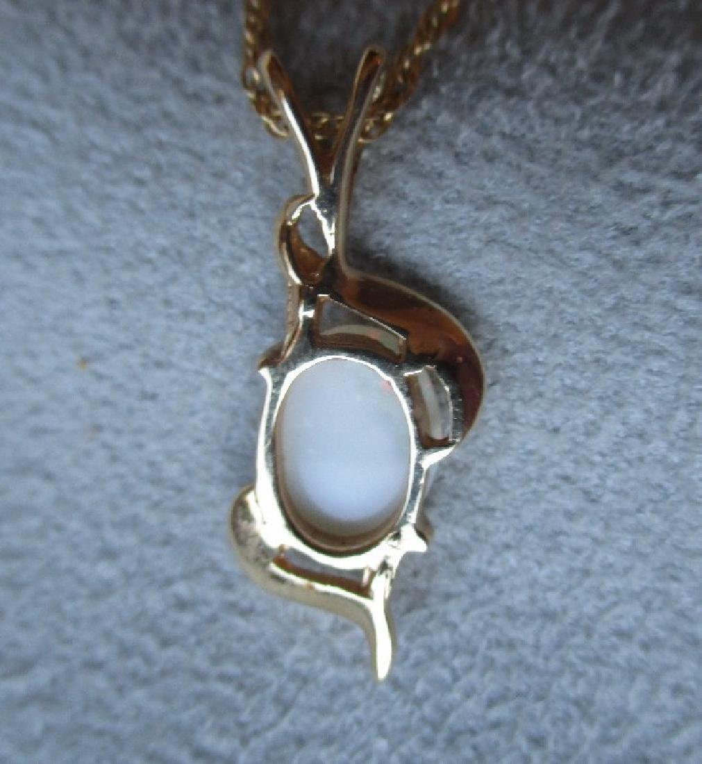 14k Gold and Opal Pendant Necklace - 3