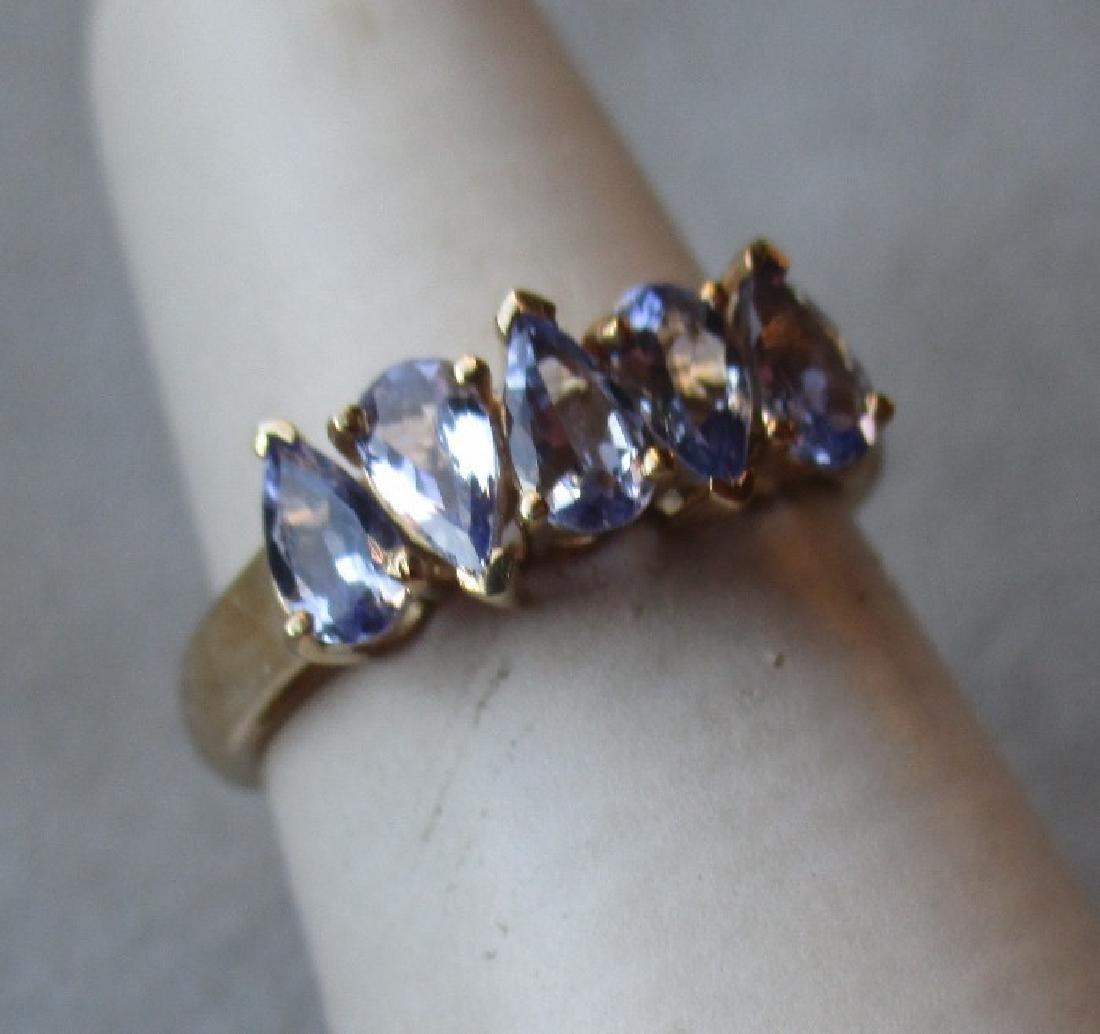 10k Gold and Tanzanite Ring - 5
