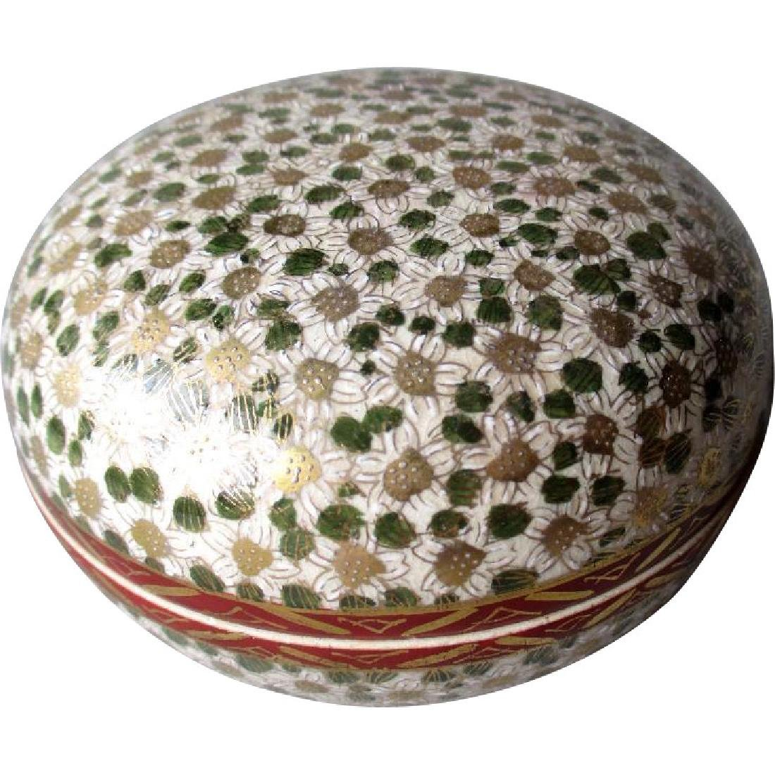 Early Satsuma Covered Dresser Box - Mille Fluer - 1000