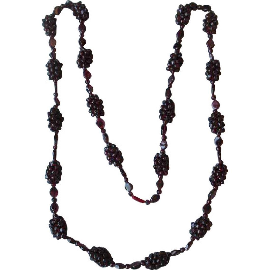 Fabulous Garnet Cluster Necklace