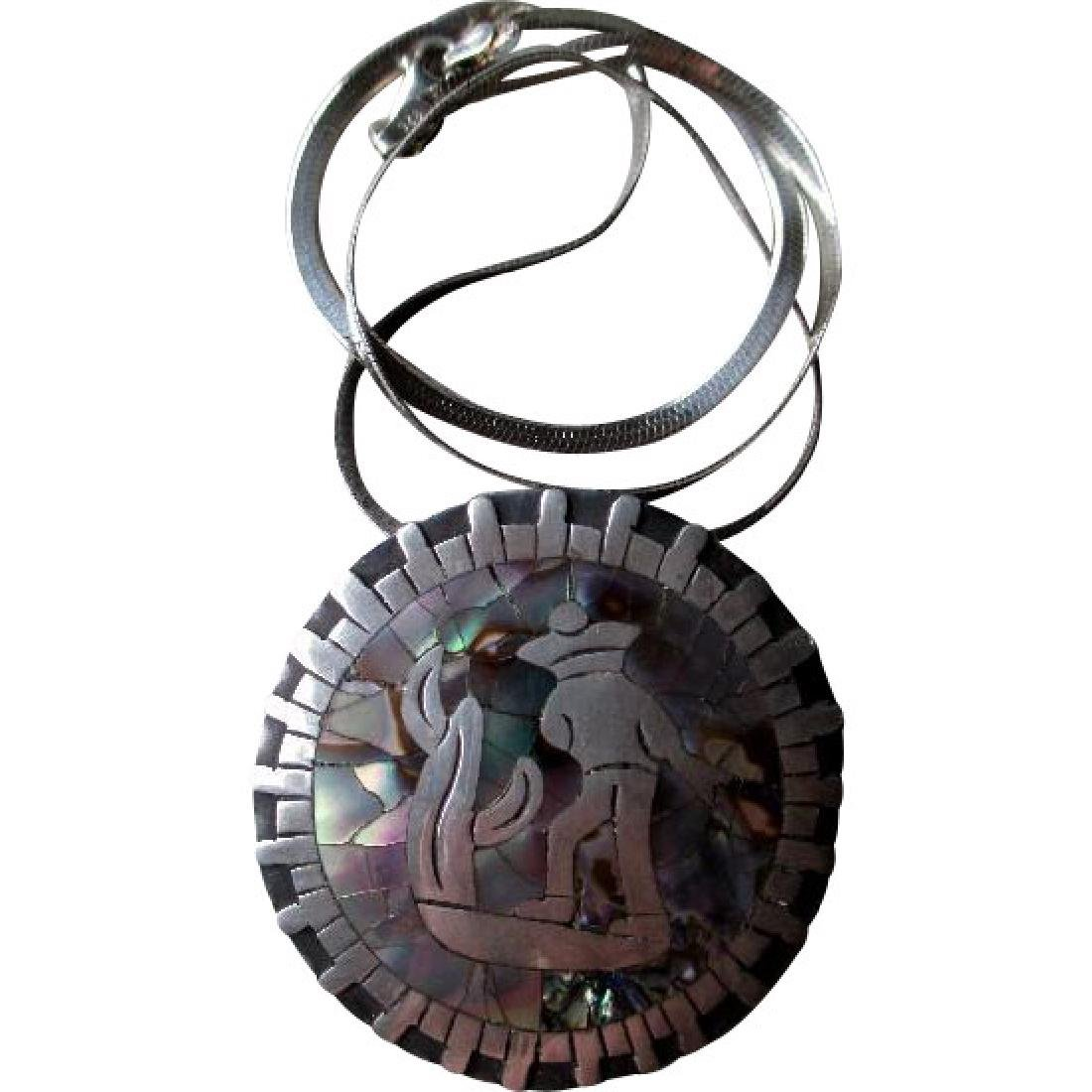 """Los Ballesteros"" Taxco Sterling and Abalone Pendant"