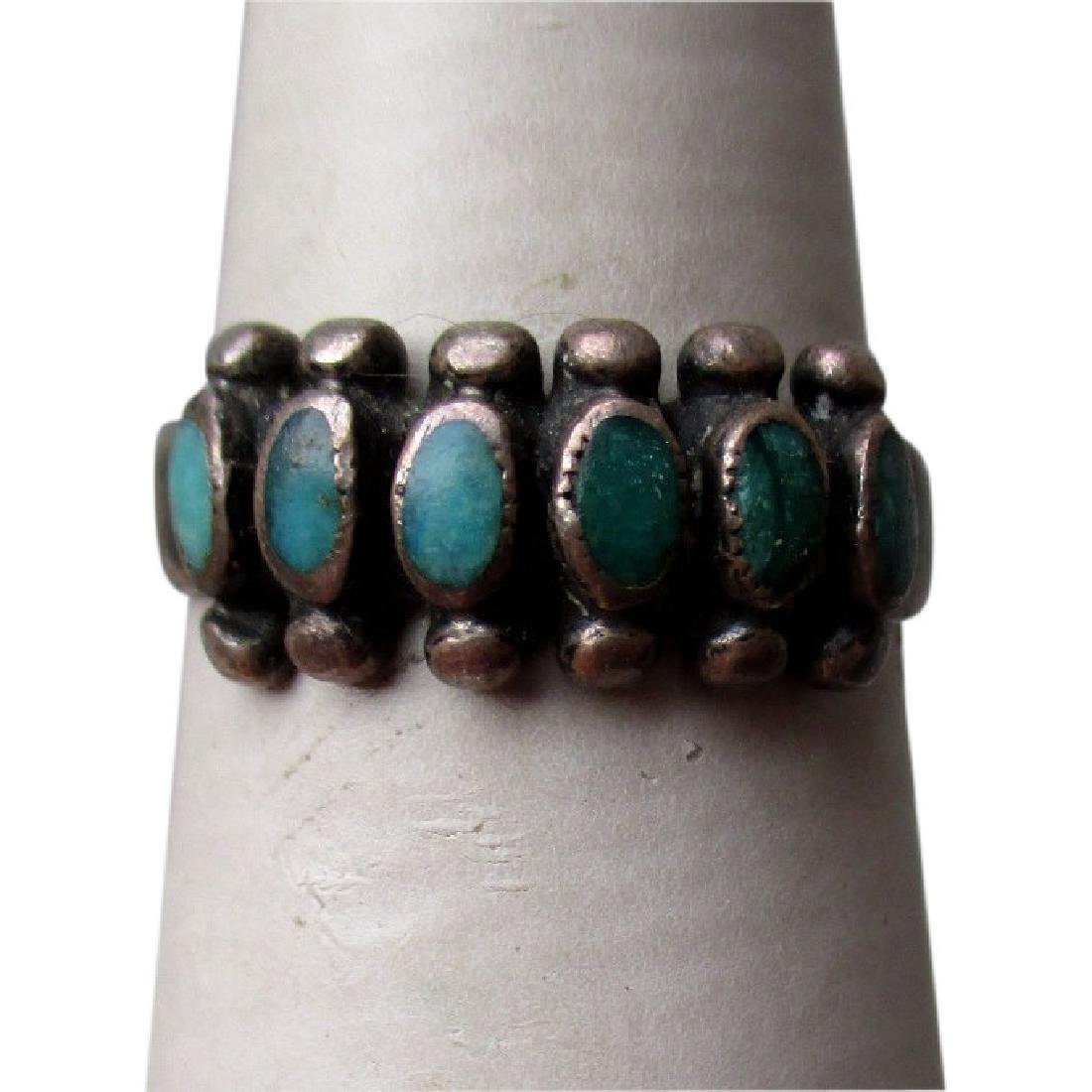Fabulous Silver and Green Turquoise Ring