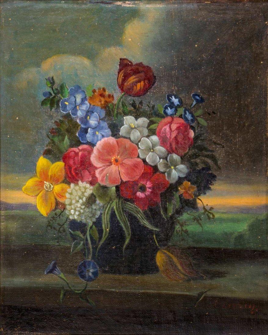 Unidentified Painter, Dutch School, Flower Vase