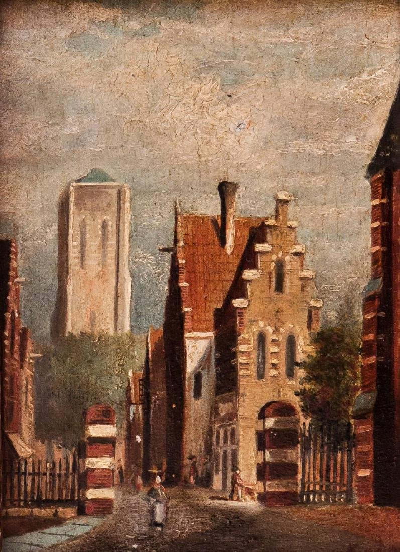 Dutch School, 19th Century, The Towers of the City