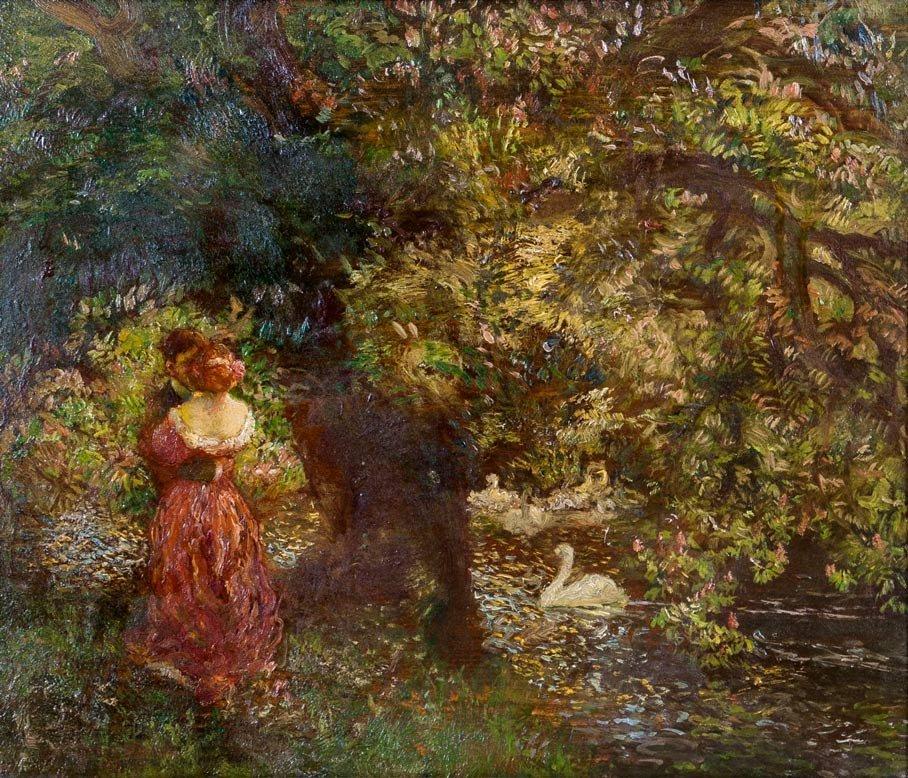 Gaston La Touche (1854-1913), Lovers in the Garden