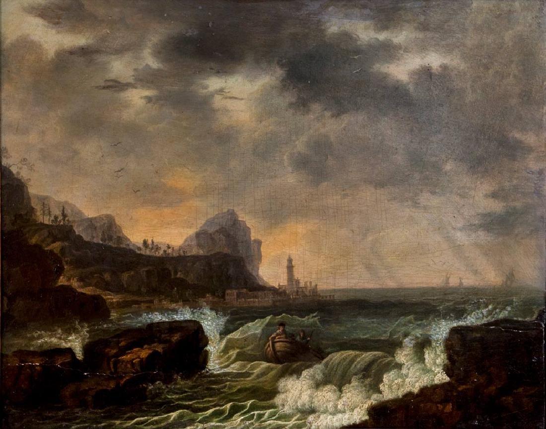 Dutch School, 18th Century, Marine Landscape