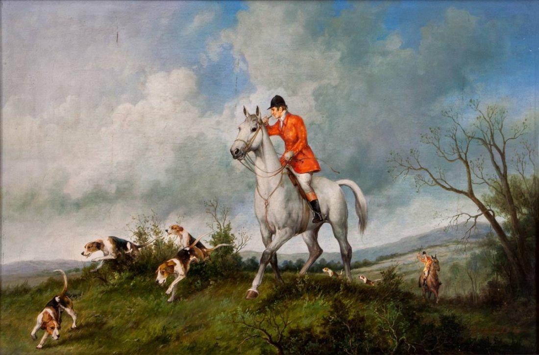 Benjamin Lander (1842-1915), Huntsmen and Hounds