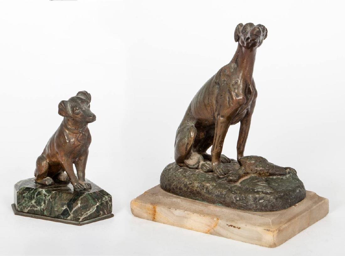 Two Bronze Sculptures of Dogs, Early 20th Century