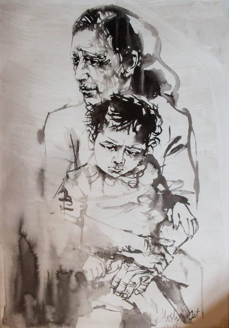 Moshe Gat, Mother and Child