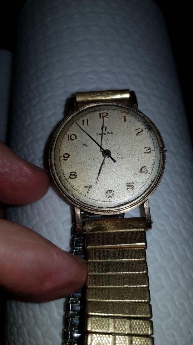 A Gold Omega Men's Wristwatch
