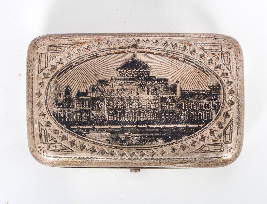 A Silver and Niello Cigarette Case, Moscow, Russia,