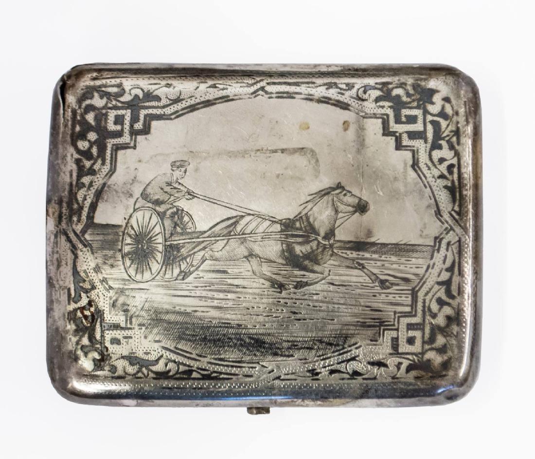 A Silver and Niello Cigarette Case by Danail Petrov,