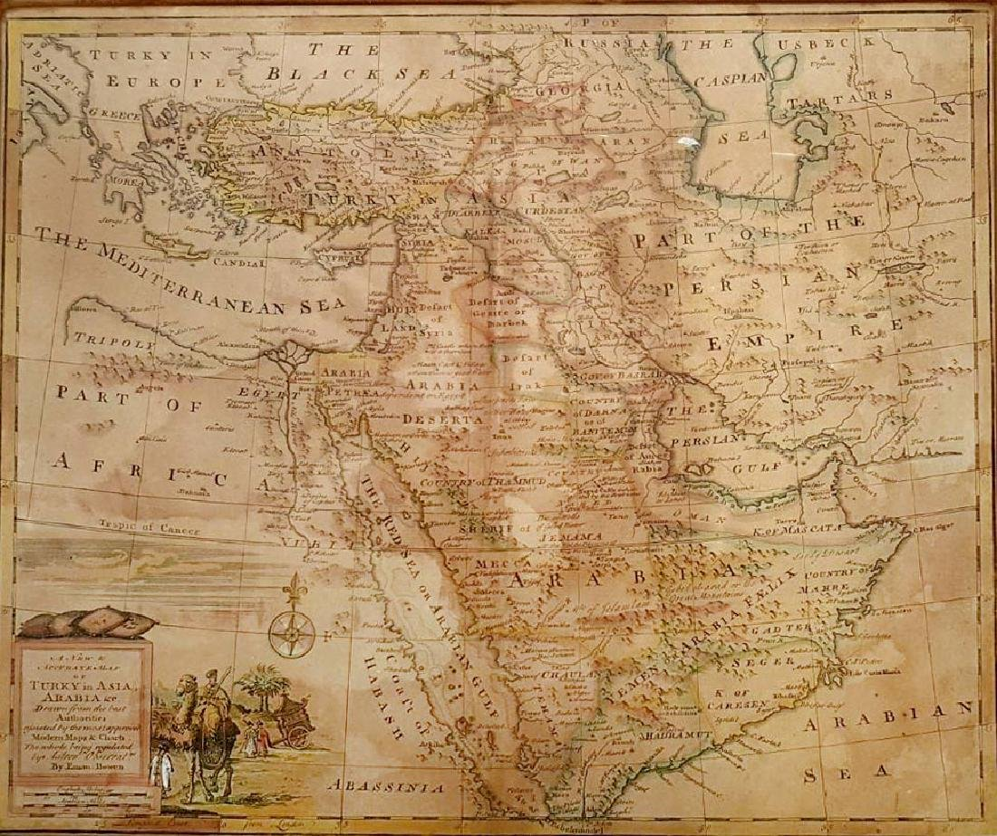 An Antique Map of Turkey and Asia Arabia, by Emanuel