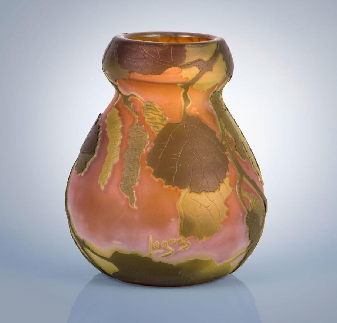A Legras Cameo Glass Vase, c. 1900