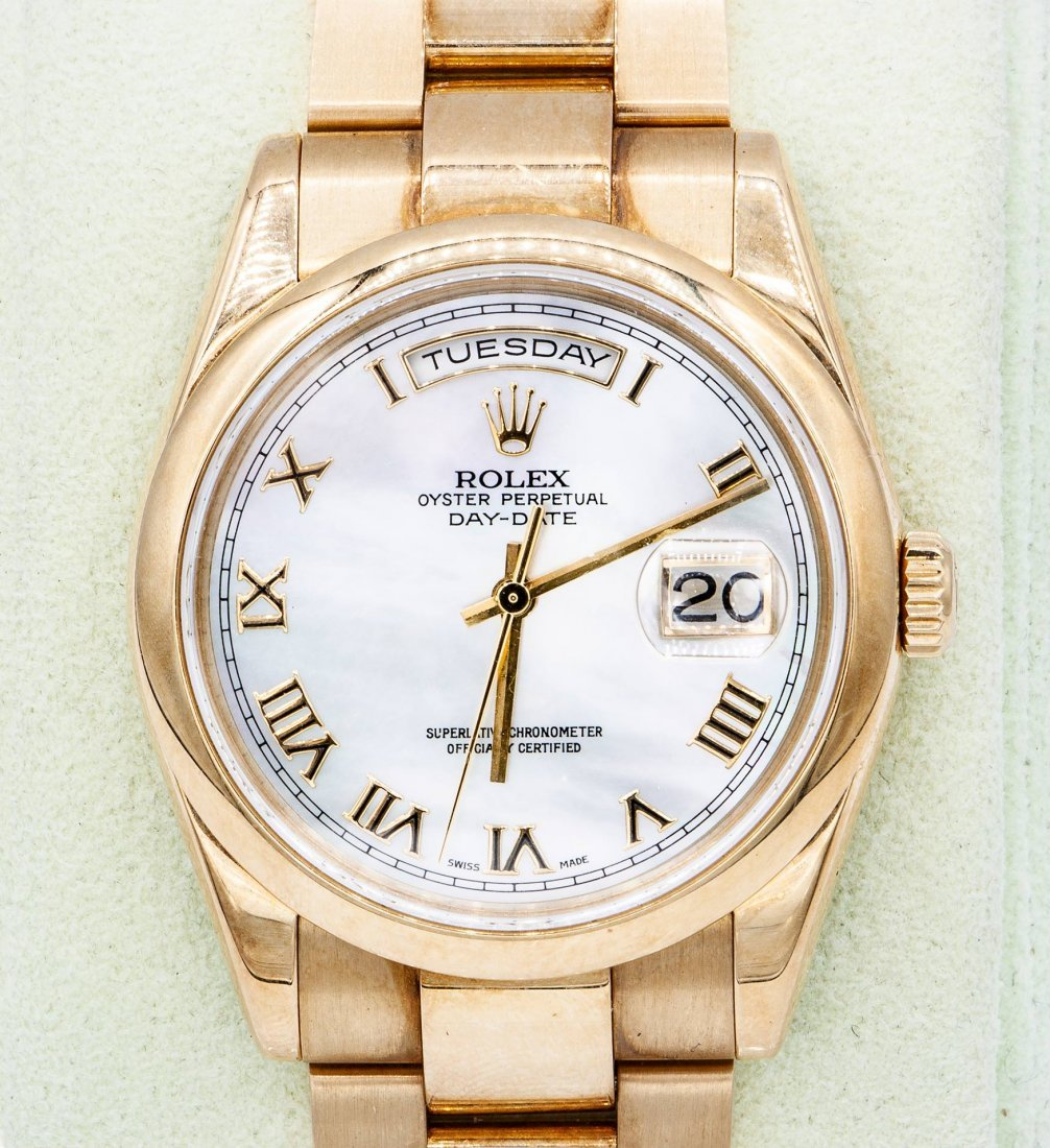 A Rolex Oyster 18K Yellow Gold Perpetual Day,Date