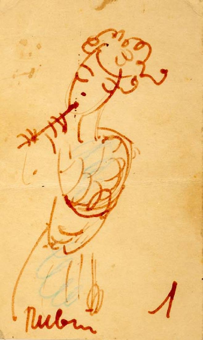 Reuven Rubin, Two Framed Ink Drawings - 2
