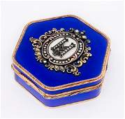A Imperial Presentation 14K Gold and Enamel Guilloche