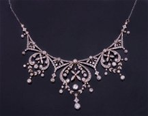 A Magnificent Edwardian Diamond and Gold Necklace