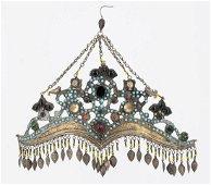 A Silver Parcel Gilt fine Head Ornament, Uzbekistan,