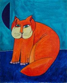 Aldemir Martins (1922-2006), Ginger Cat