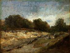 Constant Troyon (French 1810-1865), Valley Stream