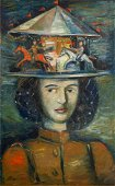 Alexander Tishler (Russian 1898-1980), Woman with
