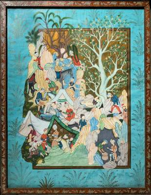 An Antique Mughal/Persian Painting