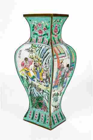A Fine Enamel Polychrome Vase, China, Late 19th Century