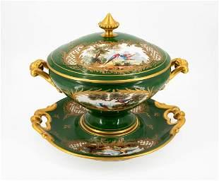 A Sevres Porcelain Soup Tureen, France, 19th Century