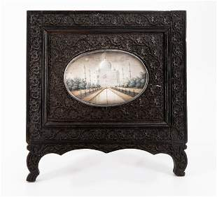 An Anglo-Indian Miniature of the Taj Mahal in a Hand