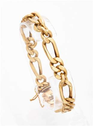 A 14K Gold Bracelet, Prob. Austria, ca 1940's