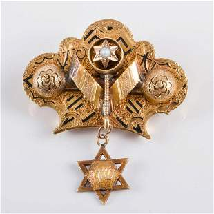 A French 18K Gold Brooch, Late 19th Century