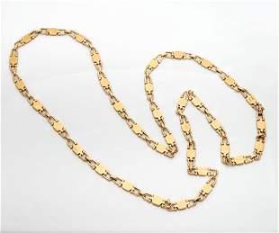 A Vintage Cartier 18K Gold Necklace