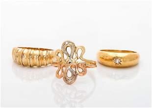 Three 14K Gold Rings