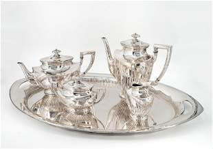 A Fine Silver Coffee and Tea Set, Germany, Early 20th
