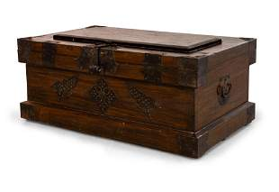 A Wood Linen Chest, China, 19th Century