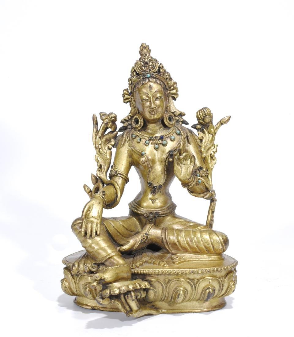 A Gilt Bronze Buddha Sculpture