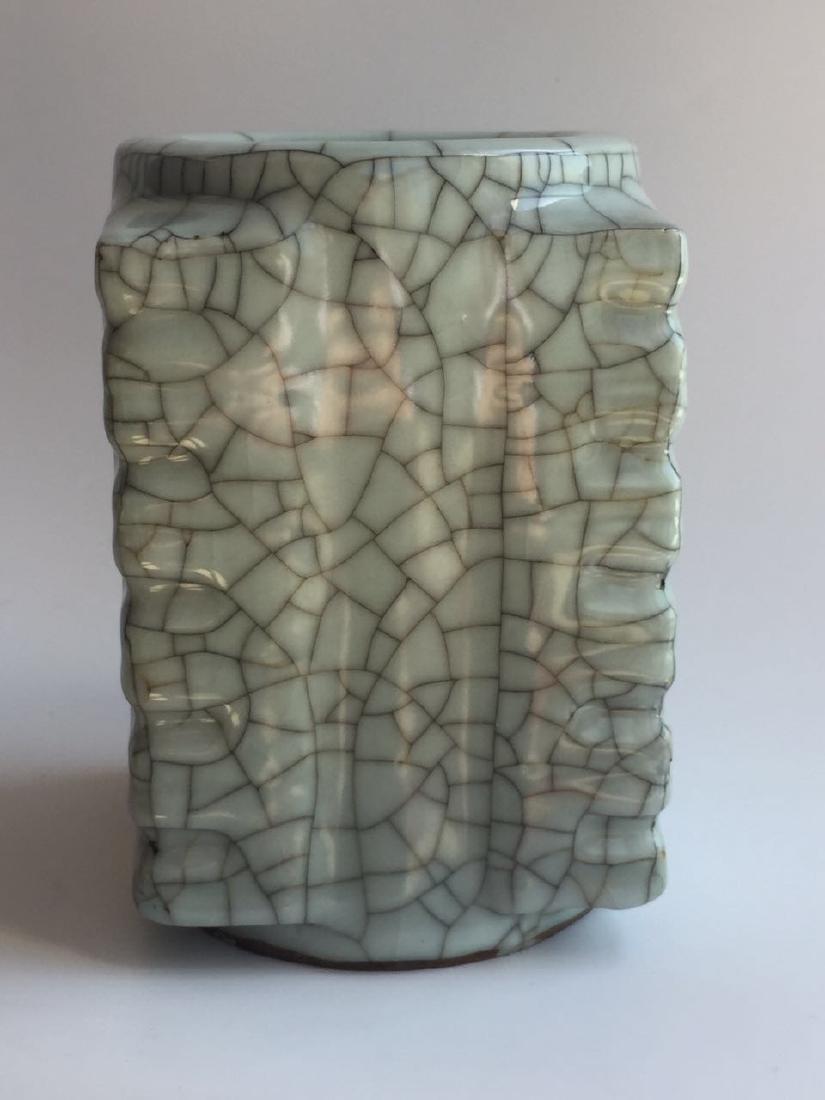 A Ge Ware Square Vase