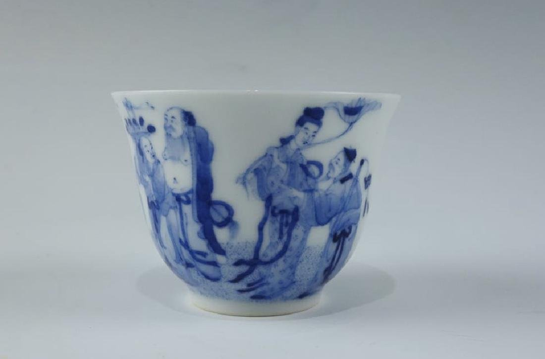 Kangxi Mark, A Blue and White Cup