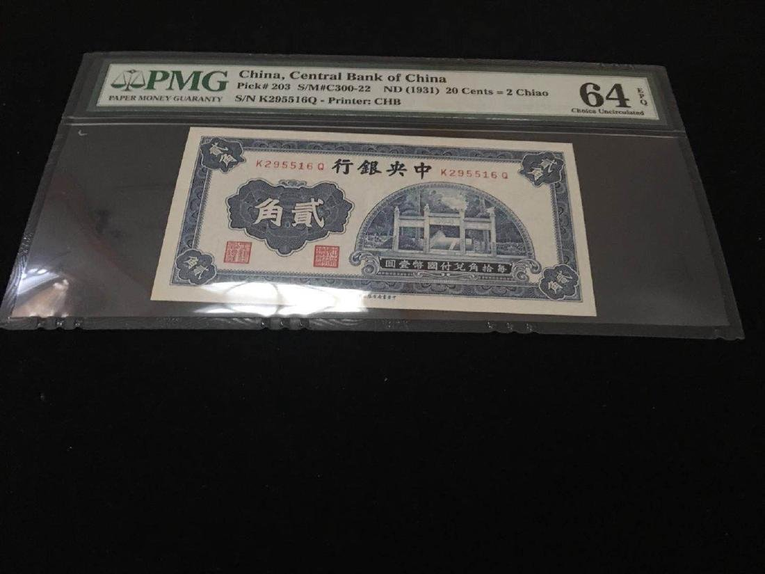 1931 20 Cents Banknote with PMG