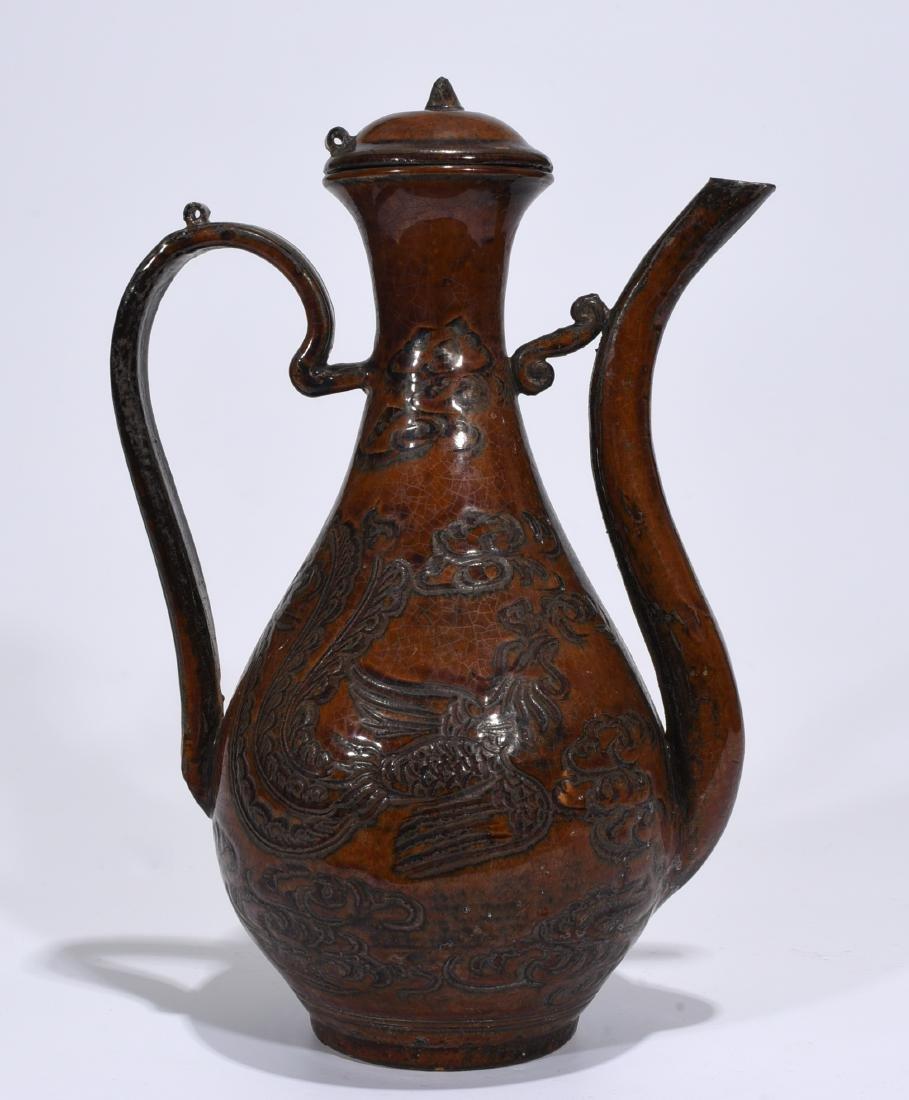 A Jizhou Ware Wine Pot