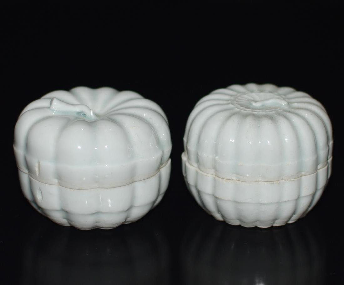 A Pair of Celadon Glazed Boxes