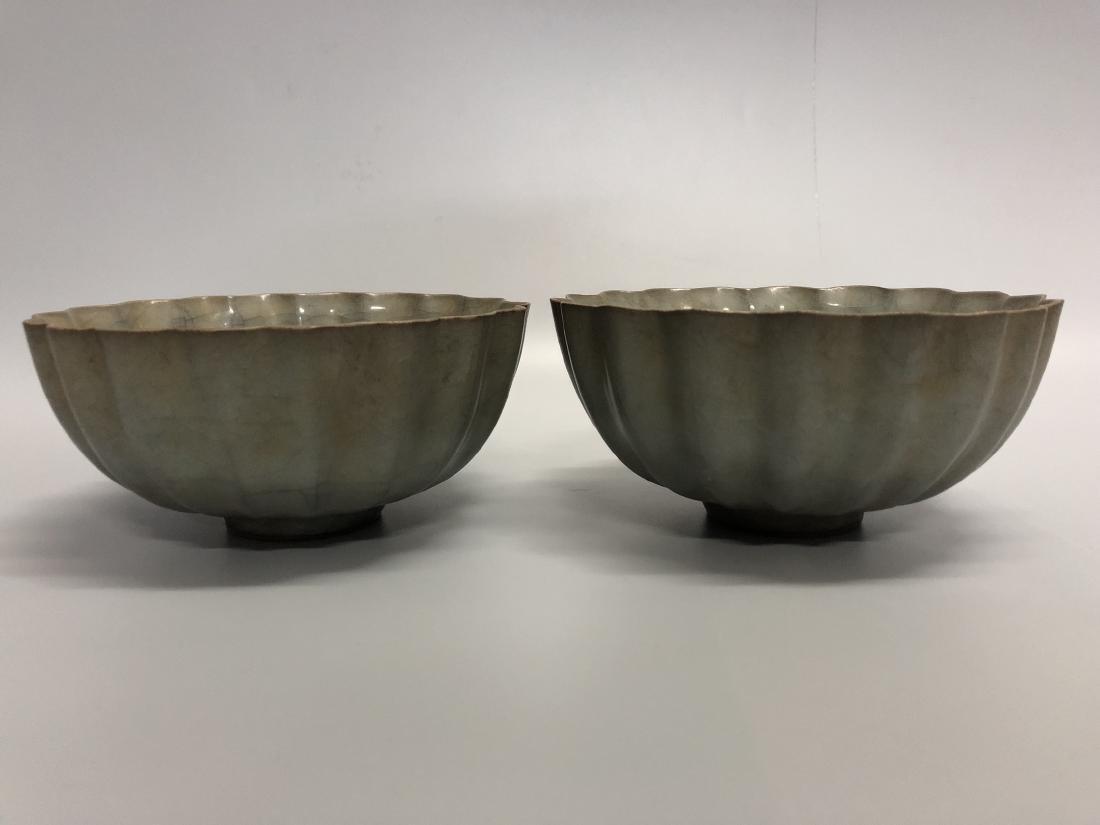 A Pair of Guan Ware Bowls