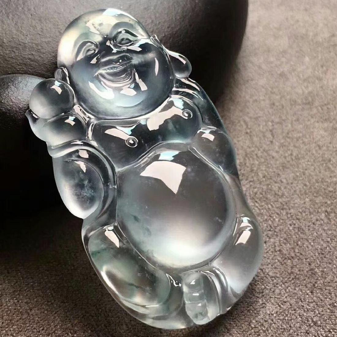 A Glass Type of Jade Buddha