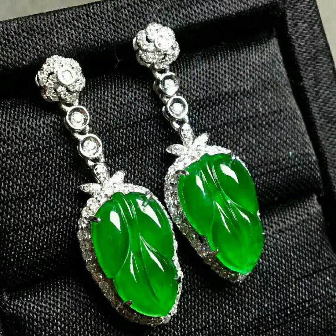A Pair of Jadeite Earring