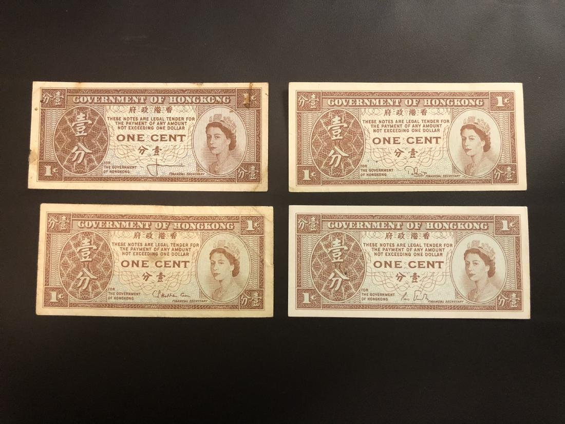 4 One Cent Paper Bill with Banknote