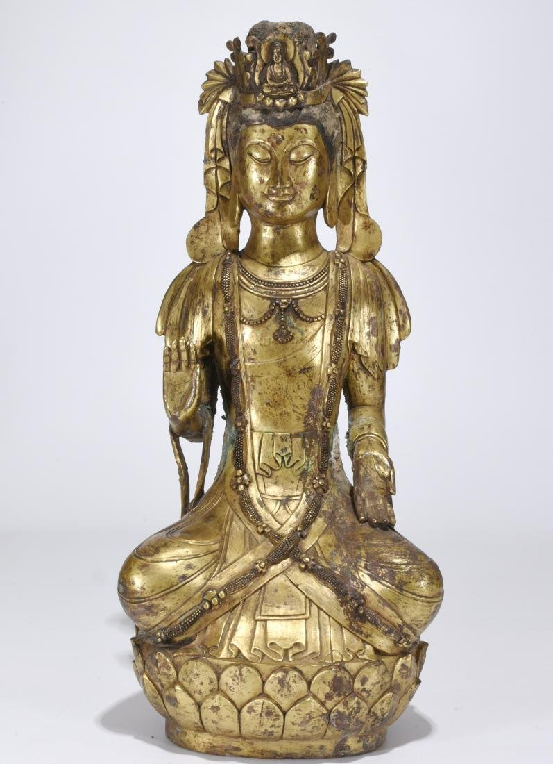 A Gilt Bronze Buddha