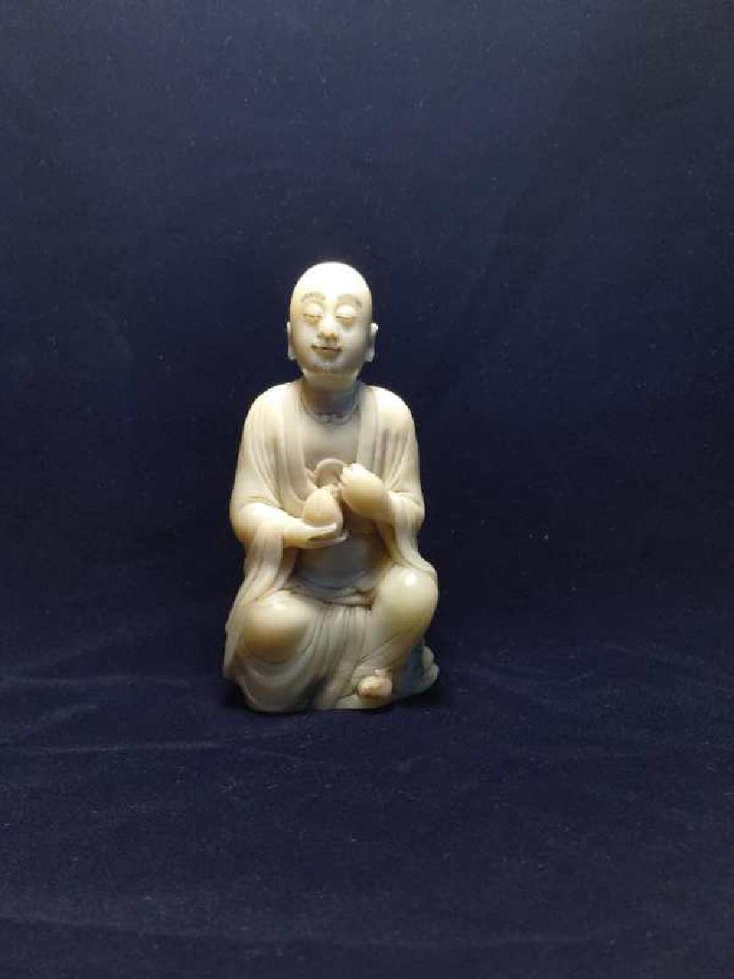 A Carved Shoushan Stone Figure