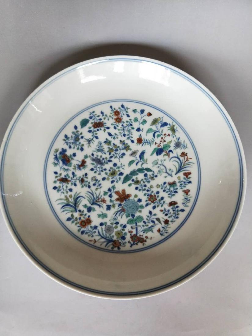 Kangxi Mark, A Famille Rose Plate